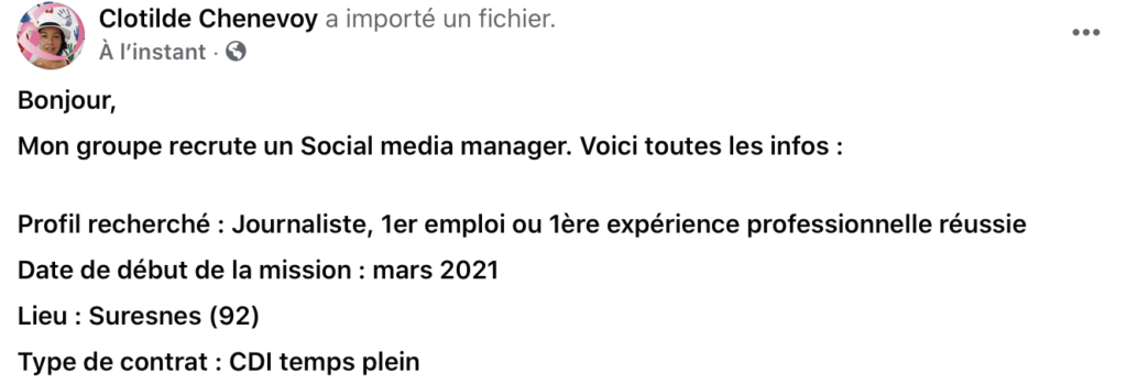 Offre emploi journaliste